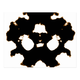 Rorschach Test of an Ink Blot Card in Black and Wh Postcard