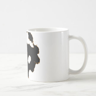Rorschach Test of an Ink Blot Card in Black Coffee Mug