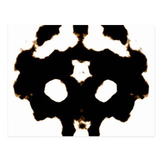 Rorschach Test of an Ink Blot Card in Black Postcard