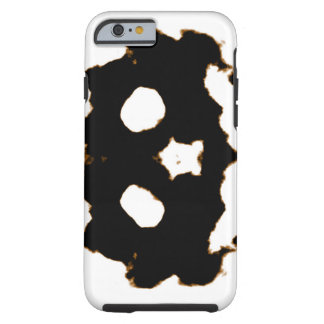 Rorschach Test of an Ink Blot Card in Black Tough iPhone 6 Case