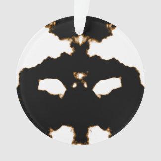 Rorschach Test of an Ink Blot Card on White