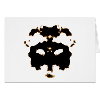 Rorschach Test of an Ink Blot Card on White