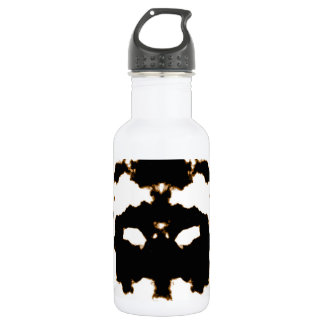 Rorschach Test of an Ink Blot Card on White 532 Ml Water Bottle