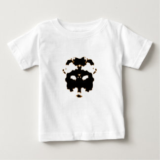 Rorschach Test of an Ink Blot Card on White Baby T-Shirt
