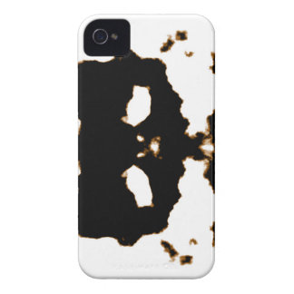 Rorschach Test of an Ink Blot Card on White iPhone 4 Cases