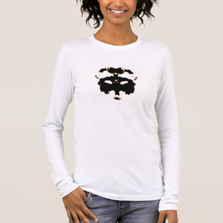Rorschach Test of an Ink Blot Card on White Long Sleeve T-Shirt