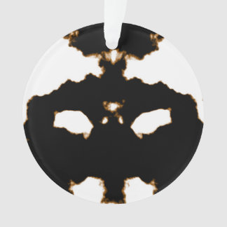 Rorschach Test of an Ink Blot Card on White Ornament