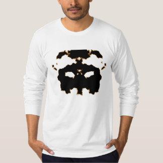 Rorschach Test of an Ink Blot Card on White T-Shirt