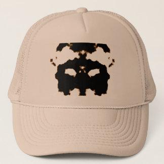 Rorschach Test of an Ink Blot Card on White Trucker Hat