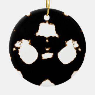 Rorschach Test of an Ink Blot Card Round Ceramic Ornament