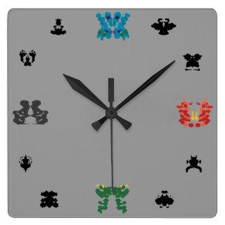 Rorschach Wall-Clock Square Wall Clock