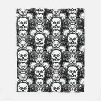 Rorshach Skull Pattern Fleece Blanket