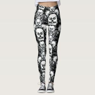 Rorshach Skull Pattern Leggings