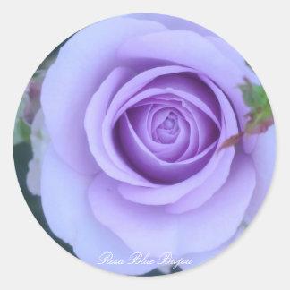 Rosa Blue Bajou Round Sticker