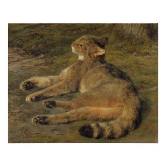 Rosa Bonheur Wild cat 1850 Poster