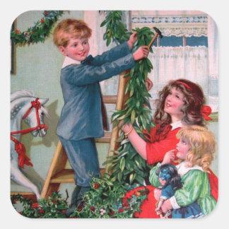 Rosa C. Petherick: Christmas Decorations Square Sticker