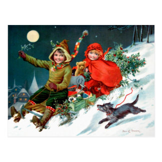 Rosa C. Petherick: Christmas Shopping Postcard