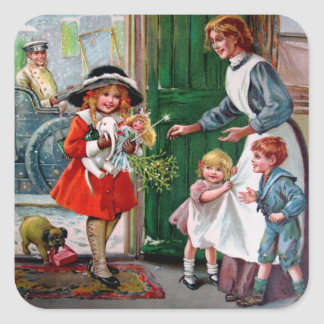 Rosa C. Petherick: Presents for the Poor Square Sticker