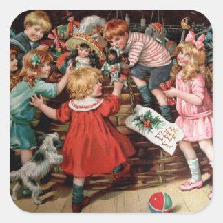 Rosa C. Petherick: The Christmas Basket Square Sticker