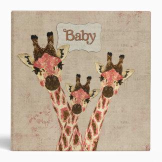 Rosa & Copper  Giraffes Baby Book Vinyl Binder