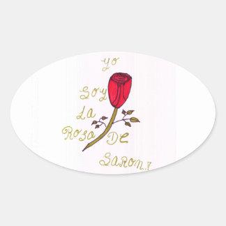 Rosa de Saron Oval Sticker