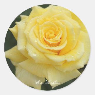 Rosa Emblem Classic Round Sticker