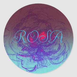 Rosa flowershop round sticker