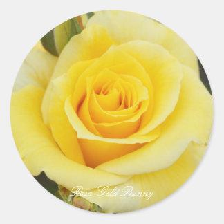 Rosa Gold Bunny Round Sticker