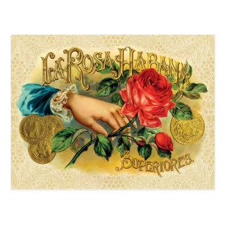 Rosa Habana Vintage Cigar Label Postcard