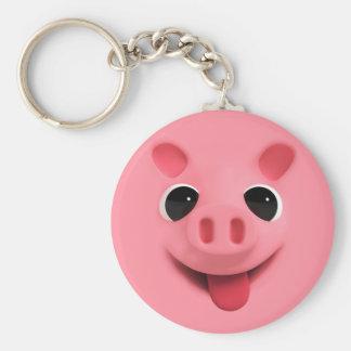 Rosa Keyhanger Basic Round Button Keychain