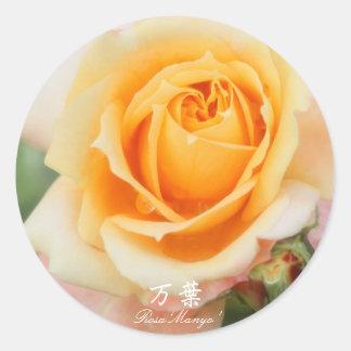 Rosa ` Manyo' Classic Round Sticker