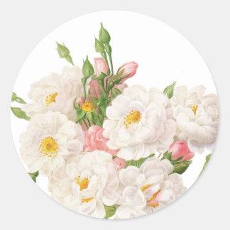 Rosa Noisettiana_Redoute Classic Round Sticker