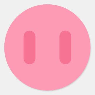 Rosa Nose Round Sticker