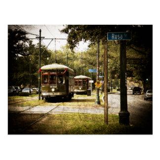 Rosa Park Drive Streetcars Postcard
