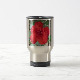 Rosa Roja Flor Travel Mug