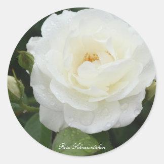Rosa Schneewittchen Round Sticker