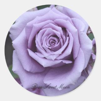 Rosa Sweet Moon Round Sticker