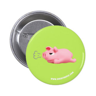 Rosa the Pig are bored 2 Inch Round Button
