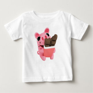 Rosa the Pig Chocolate Baby T-Shirt