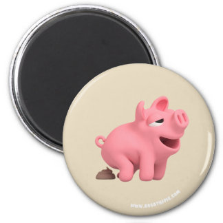 Rosa the Pig does a Poop Magnet