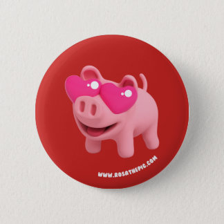 Rosa the Pig Heart Eyes 2 Inch Round Button