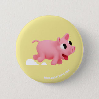 Rosa the Pig keep running 2 Inch Round Button