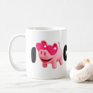 Rosa the Pig Love Coffee so much! Coffee Mug
