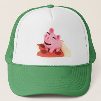 Rosa the Pig Love pizza Trucker Hat