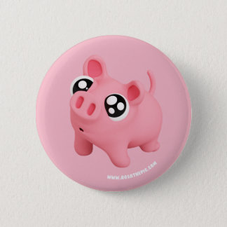 Rosa the Pig puppy Eyes 2 Inch Round Button