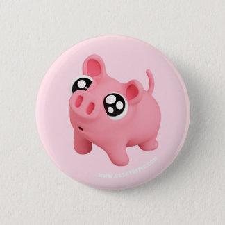 Rosa the Pig puppy Eyes 2 Inch Round Button