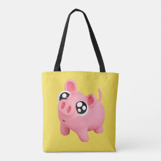 Rosa the Pig puppy Eyes Tote Bag
