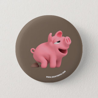 Rosa the Pig takes a Poop 2 Inch Round Button