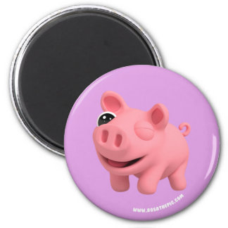 Rosa the Pig winking Magnet