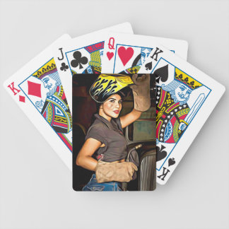 Rosa-the-welder Bicycle Playing Cards